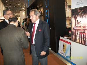 Egyptian minister of tourism in Ramses tours stand WTM London